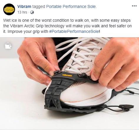 Vibram Facebook Post
